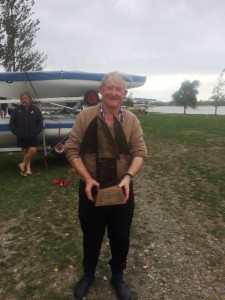 Bruce Lund with Lund Conroy Trophy